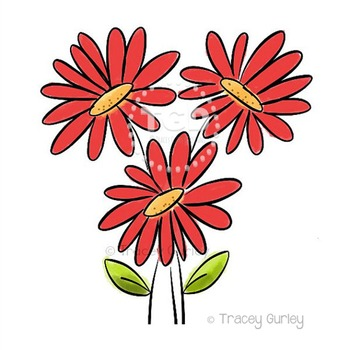 Red Gerbera Daisy Bouquet - red gerbera daisy clip art Tracey Gurley Designs