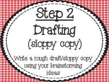 Writing Process Posters: Red Gingham