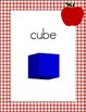 Red Gingham and Apples 2D and 3D Shape Posters