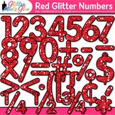 Red Glitter Math Numbers Clip Art {Glitter Meets Glue}