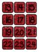 Red Glitter Pocket Chart Subject Schedule Cards & Calendar