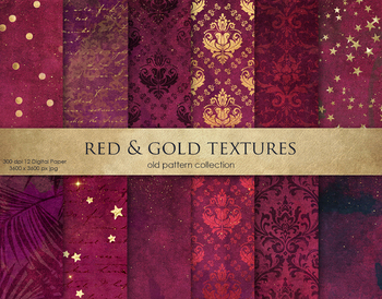 Red & Gold Textures