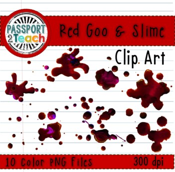 Red Goo and Slime Clip Art for Commercial Use