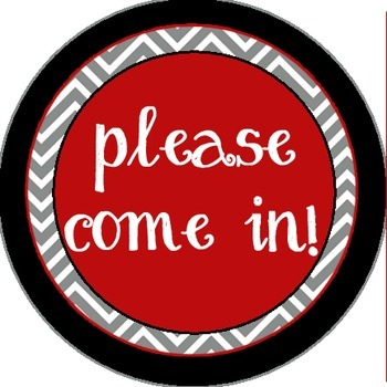 Red, Gray and Black - Come in attachment for the Where is the counselor? sign