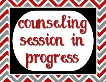 """Red, Gray and Black - Counseling Session In Progress - 8.5""""x11"""""""