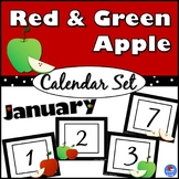 Red and Green Apple Calendar Set