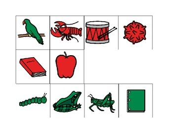 Red Green Colour Sorting File Folder Activity