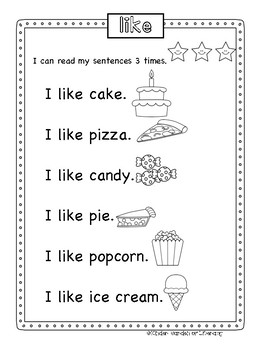 Red Gumball Sight Words in Sentences