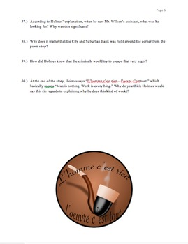 Red Headed League Close Reading Packet