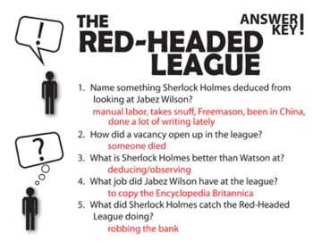 The Red-Headed League Pop Quiz & Discussion Questions (Sir Arthur Conan Doyle)