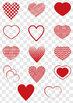 Red Heart Shape Clip Art