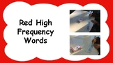 Red High Frequency Words