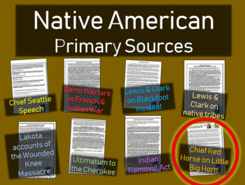 Red Horse Account of Little Big Horn: Native American Primary Source w text Qs