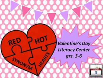 Red Hot Synonym Hearts Literacy Center Upper Elementary