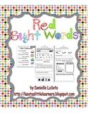 Red/ Irregular Sight Word Fluency