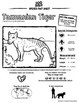Tasmanian Tiger -- 10 Resources -- Coloring Pages, Reading