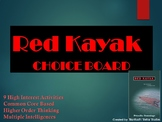 Red Kayak Choice Board Tic Tac Toe Novel Activities Menu A