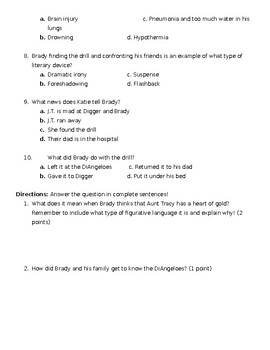 Red Kayak Quiz 2 (Chapters 9-15)