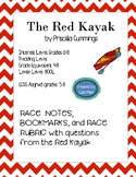 Red Kayak RACE questions, RACE notes, sentence starters, bookmarks and rubric