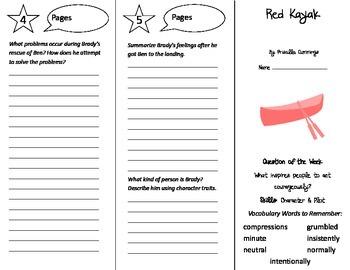 Red Kayak Trifold - Reading Street 5th Grade Unit 1 Week 1