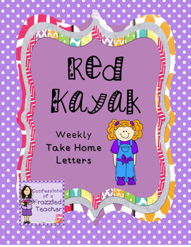 Red Kayak Weekly Take Home Letters (Scott Foresman Reading Street)