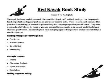 Red Kayak by Priscilla Cummings Book Study