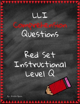 Red LLI Comprehension Questions