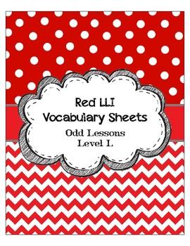Red LLI Vocabulary Sheets Level L