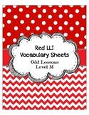 Red LLI Vocabulary Sheets Level M