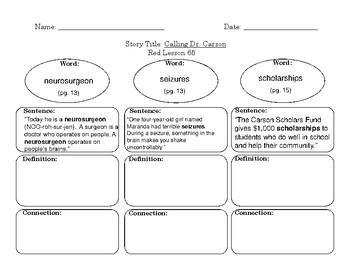 Red LLI Vocabulary Sheets Level N