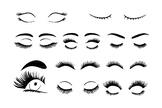 Eyelashe SVG, Eyelashs set svg files for Silhouette Cameo