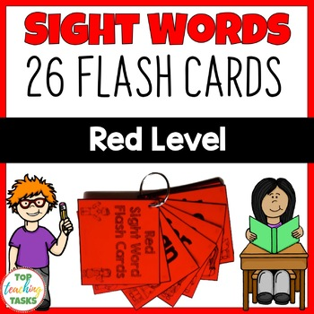 Red Level High Frequency Sight Word Flash Cards for Year One NZ