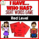 New Zealand Sight Words Red Level Sight Word Game I have Who Has