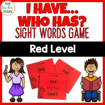Red Level Sight Word Game - I have Who Has - Year One NZ