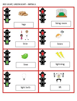 Red Light, Green Light - A Fast-Paced Activity for Articulation - L