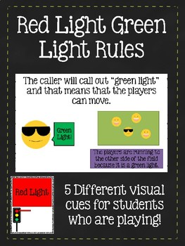Red Light Green Light Rules (Social Story) & Accompanying Visual Supports