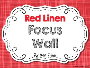 Red Linen Focus Wall {White}