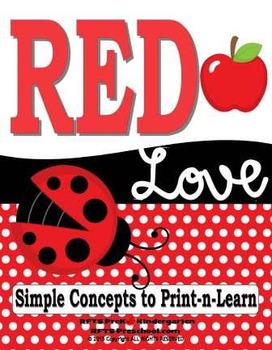 Red Love (Simple Concept to Print-n-Learn)