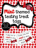 Red Mint Themed Testing Treat Tags!