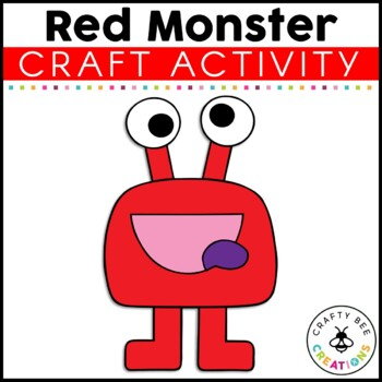Red Monster Cut and Paste