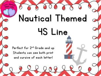 Red Nautical Chevron 4S Line