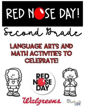 Red Nose Day- 2nd Grade ELA & Math Activities