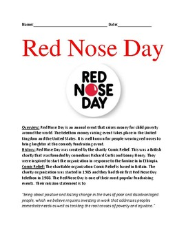 Red Nose Day - History Facts information History Comic Relief