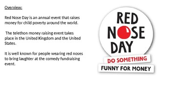 Red Nose Day - power point information facts history