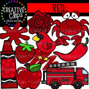 Red Objects Clipart {Creative Clips Clipart}