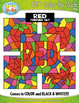 Red Objects Color By Code Clipart {Zip-A-Dee-Doo-Dah Designs}