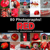 Photos Photographs RED OBJECTS clip art