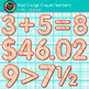 Red-Orange Math Numbers Clip Art {Great for Classroom Decor & Resources}