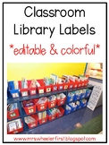 First Grade Classroom Library Labels: Red
