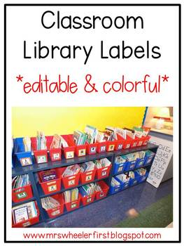 First Grade Classroom Library Labels Red By Mrs Wheeler Tpt